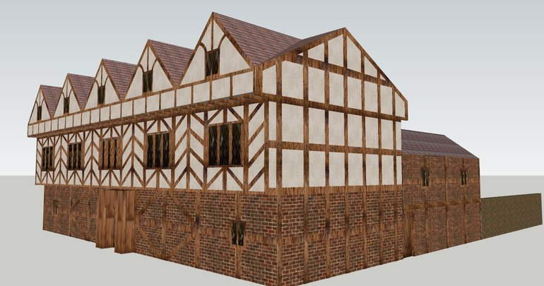 Working version of 3D model of New Place