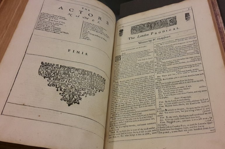 The London Prodigal in the Third Folio, 1664