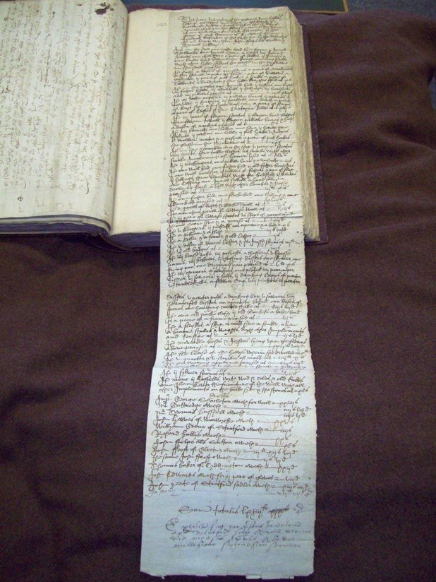 1602 inventory of the Stratford widow Joyce Hobday, from the Shakespeare Birthplace Trust archive collection.