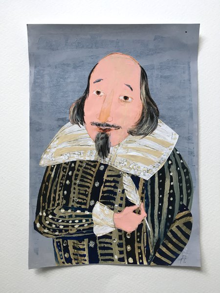 Shakespeare portrait by Petr Horacek