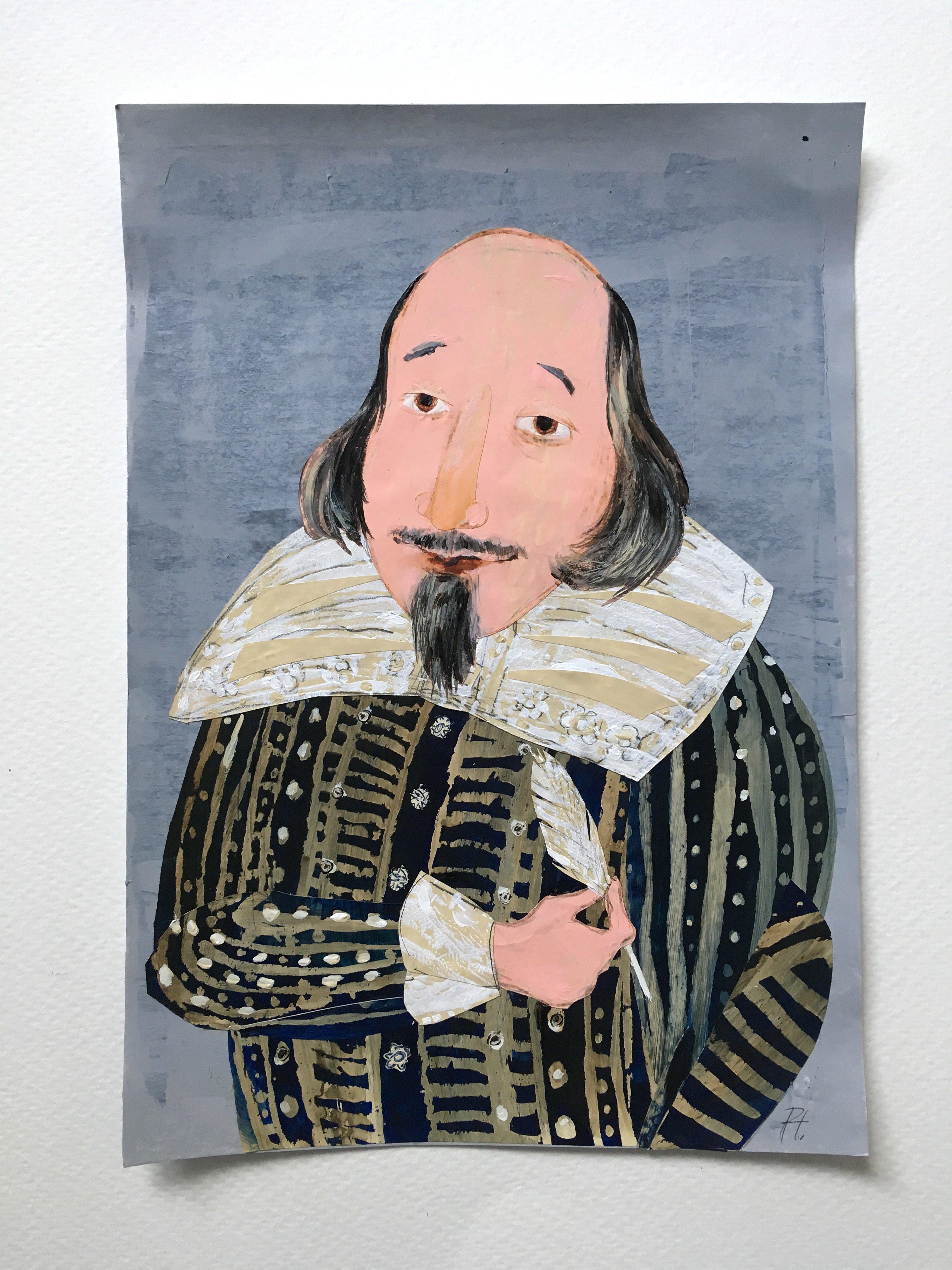 Shakespeare portrait by Petr Horacek