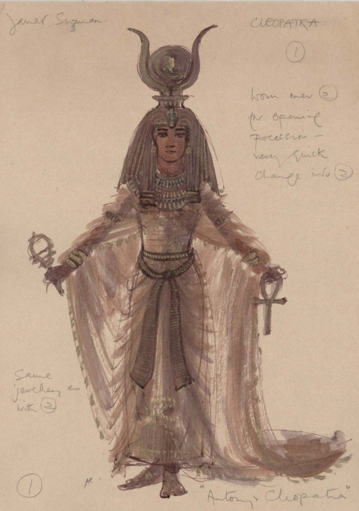 One of Ann Curtis's designs for Cleopatra, 1972