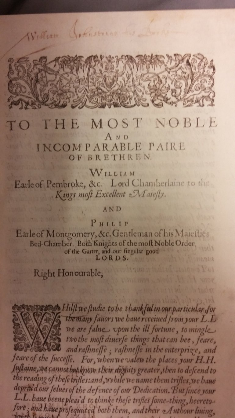 to the most noble and incomparable paire of brethren