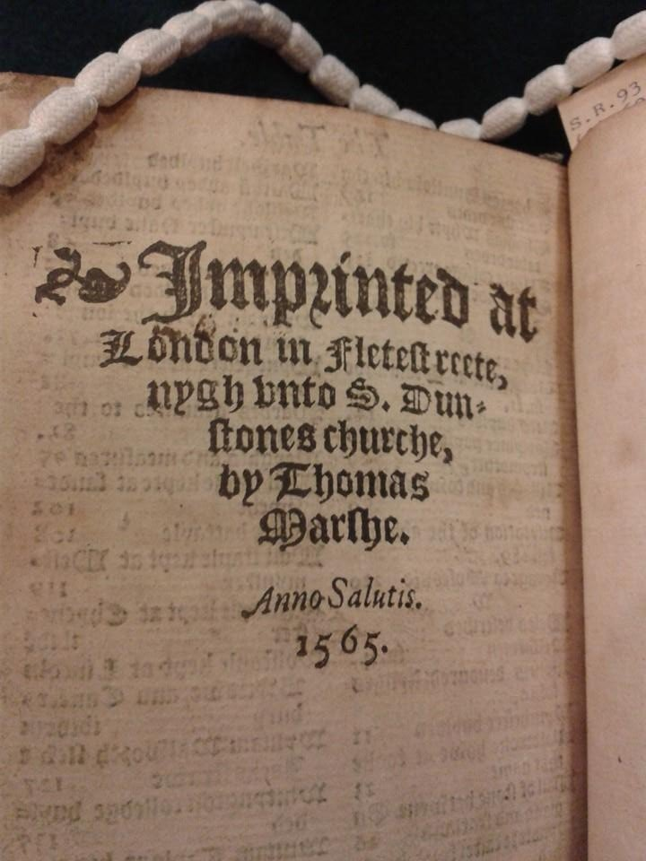 Publisher details in Stow's Chronicles