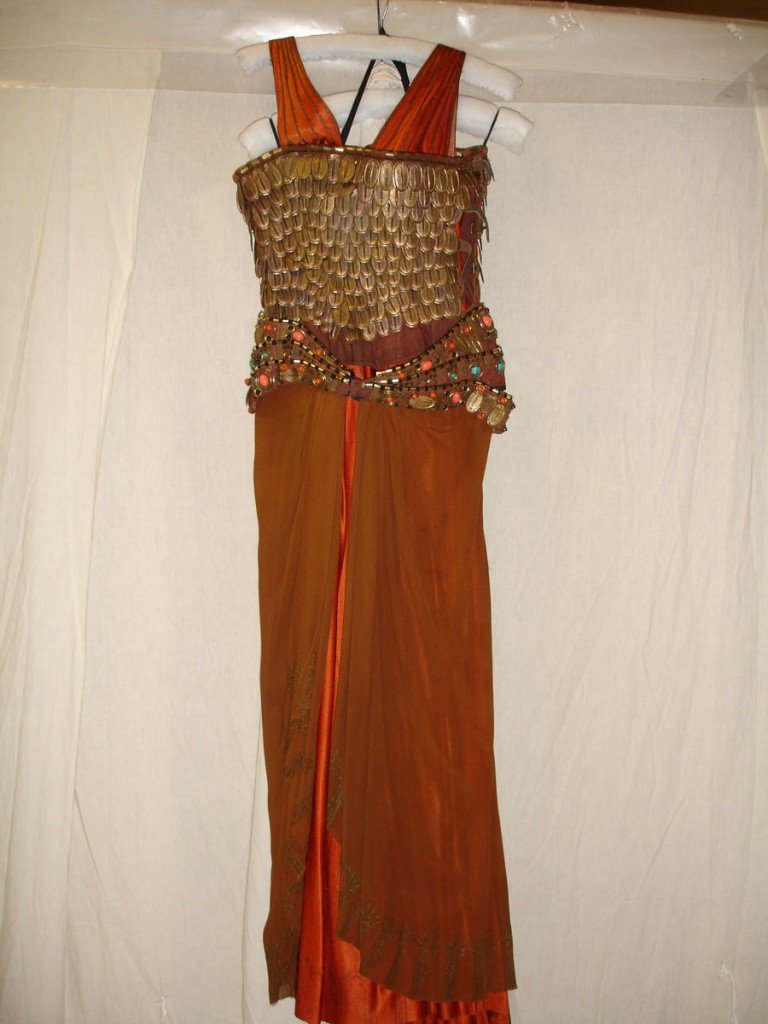 One of the costumes for Cleopatra, designed by Ann Curtis 1972