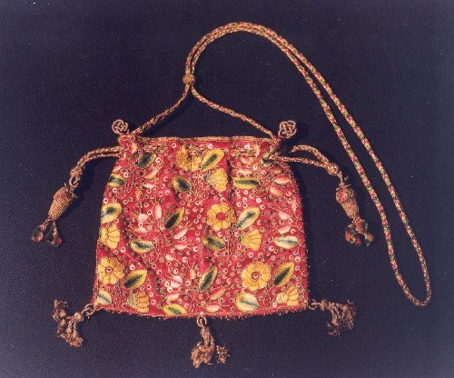 A late sixteenth century embroidered sweet bag