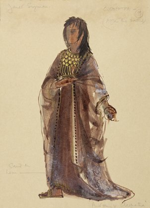 Costume design for 'Cleopatra', 1972, by Ann Curtis