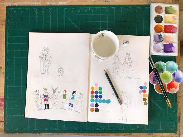 Alison Gardiner Shakespeare Characters Sketch Book