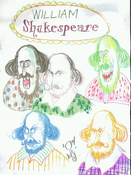 Shakespeare Portrait competition - Korky Paul