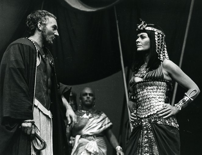 Production image showing Janet Suzman as 'Cleopatra', 1972