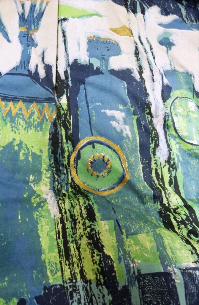 The Age of Kings by Tibor Ltd, 1964. This photograph is a detail from a set of stage curtains that were designed for the new Shakespeare Centre.