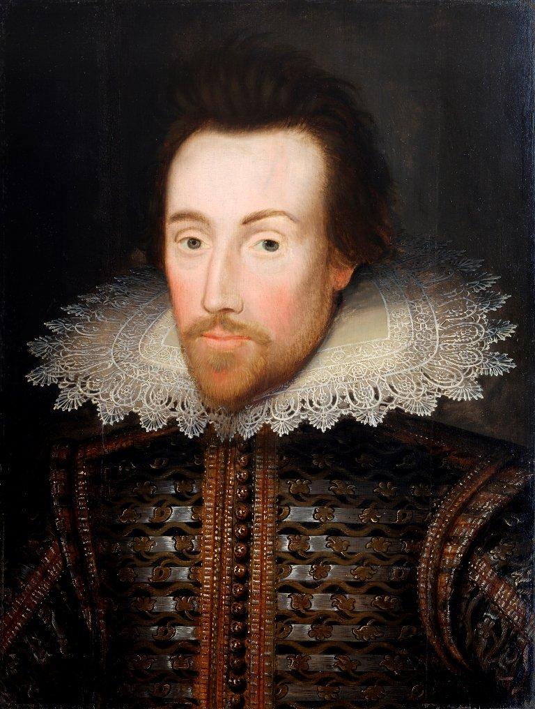 The Shakespeare Birthplace Trust Portrait of William Shakespeare, c.1610 - 1615