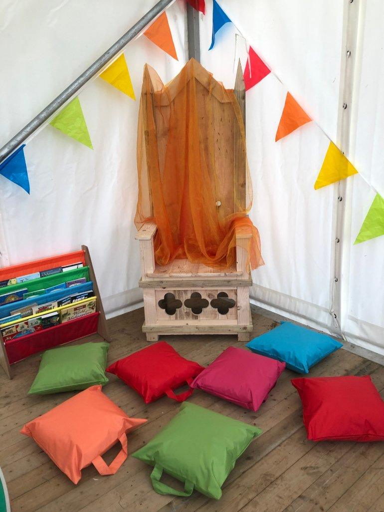 Storytelling Chair at Activity Tent