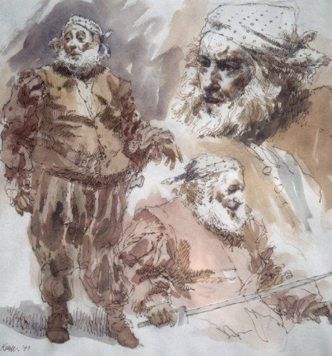 Robert Stephens as Falstaff by Arthur Keene