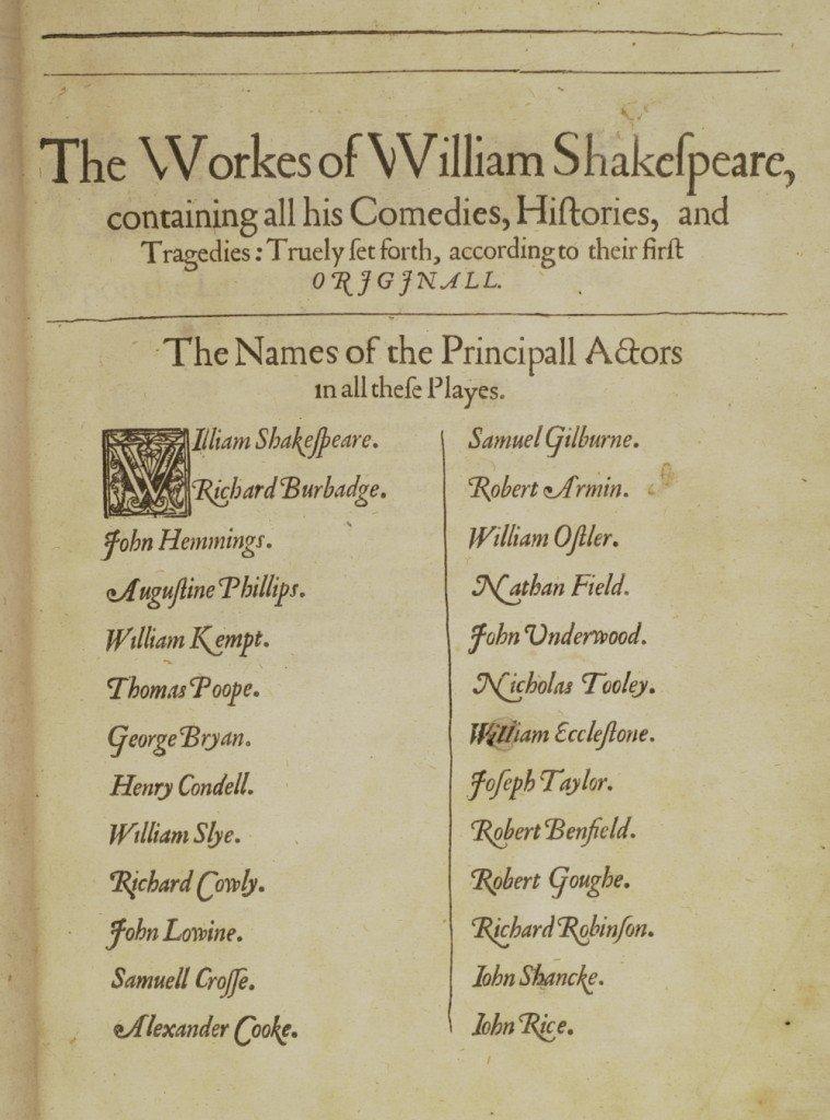 Ashburnham First Folio, 1623
