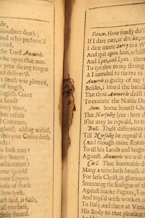 Face in the RSC First Folio