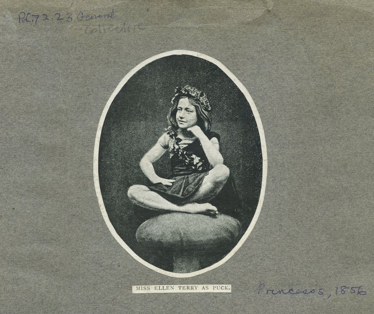 Ellen Terry as Puck, 1856