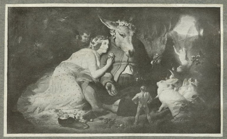 Painting of Titania and Bottom by E Landseer,