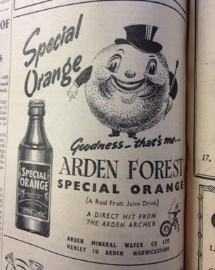 special orange advert 1955