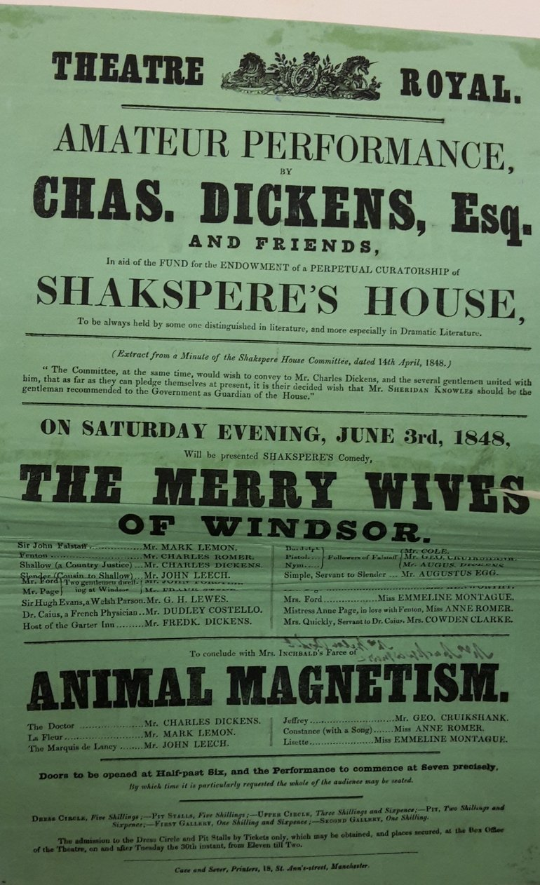 Charles Dickens playbill