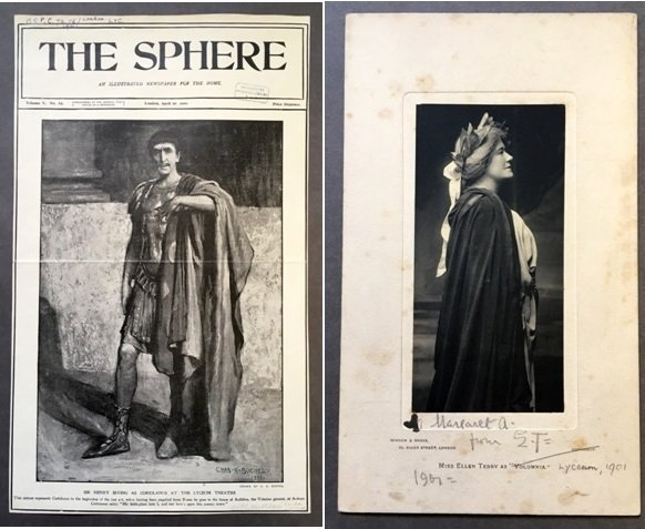 Henry Irving (left) and Ellen Terry (right) as Coriolanus and Volumnia in Coriolanus, 1901