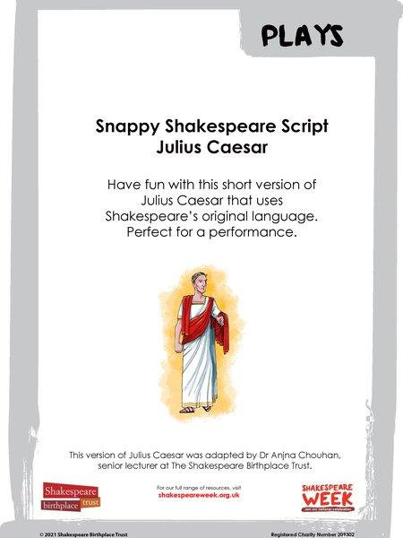 Cover sheet for Snappy Shakespeare Julius Caesar.jpg