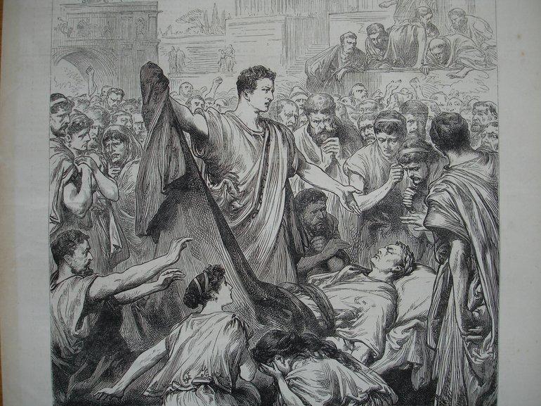 Uncovering Caesar's Body, London News, 1881