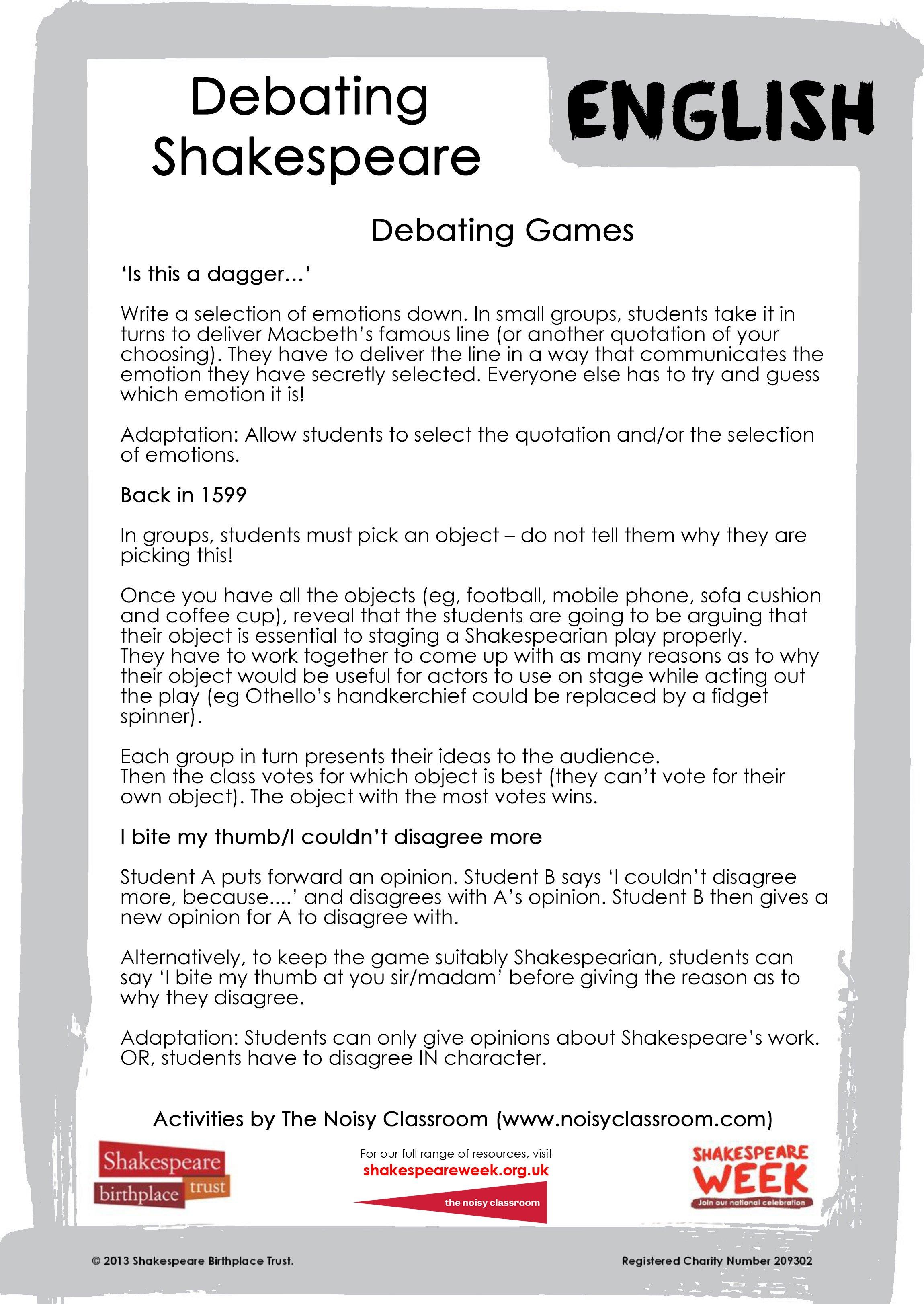Debating games