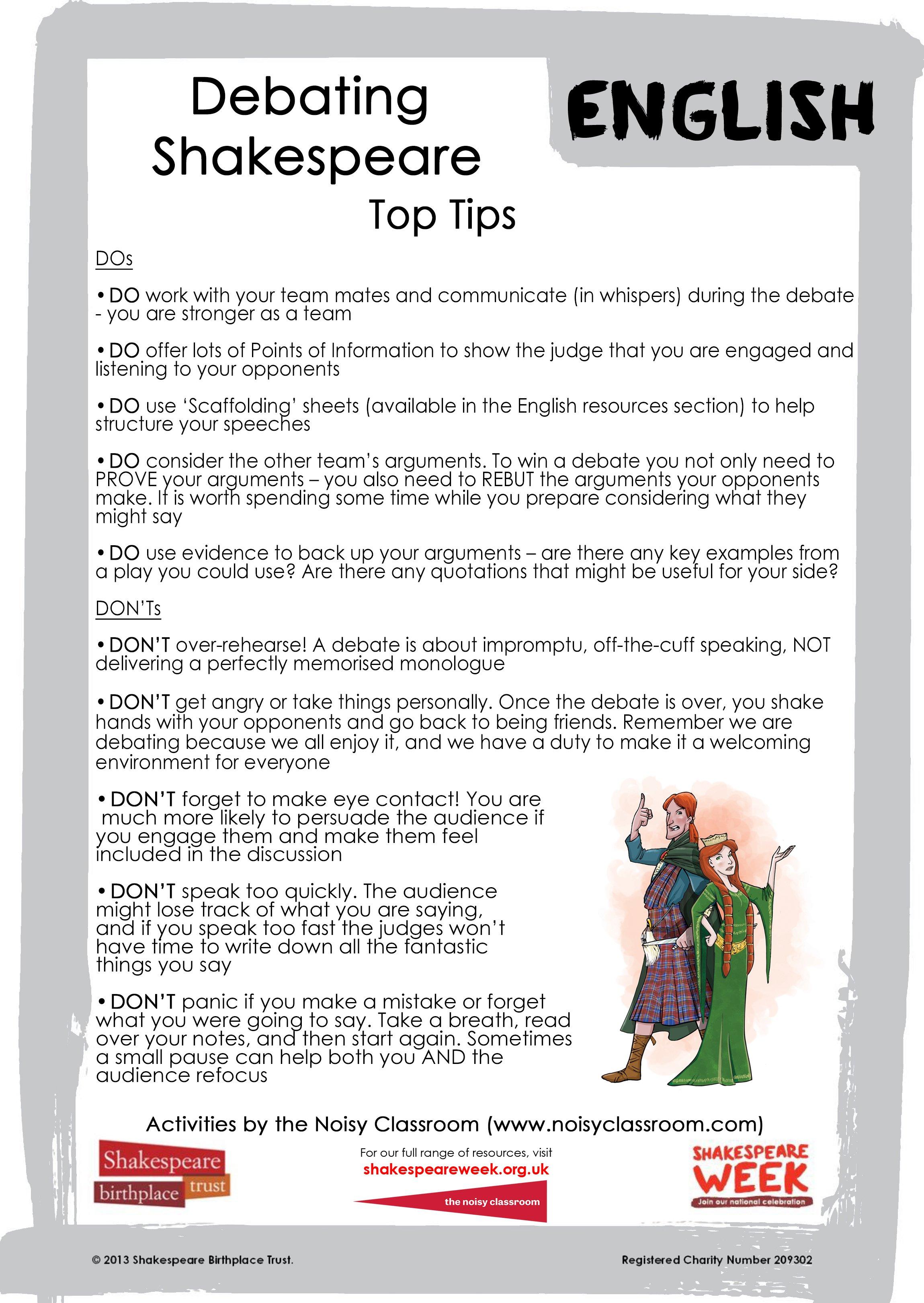 Debating top tips