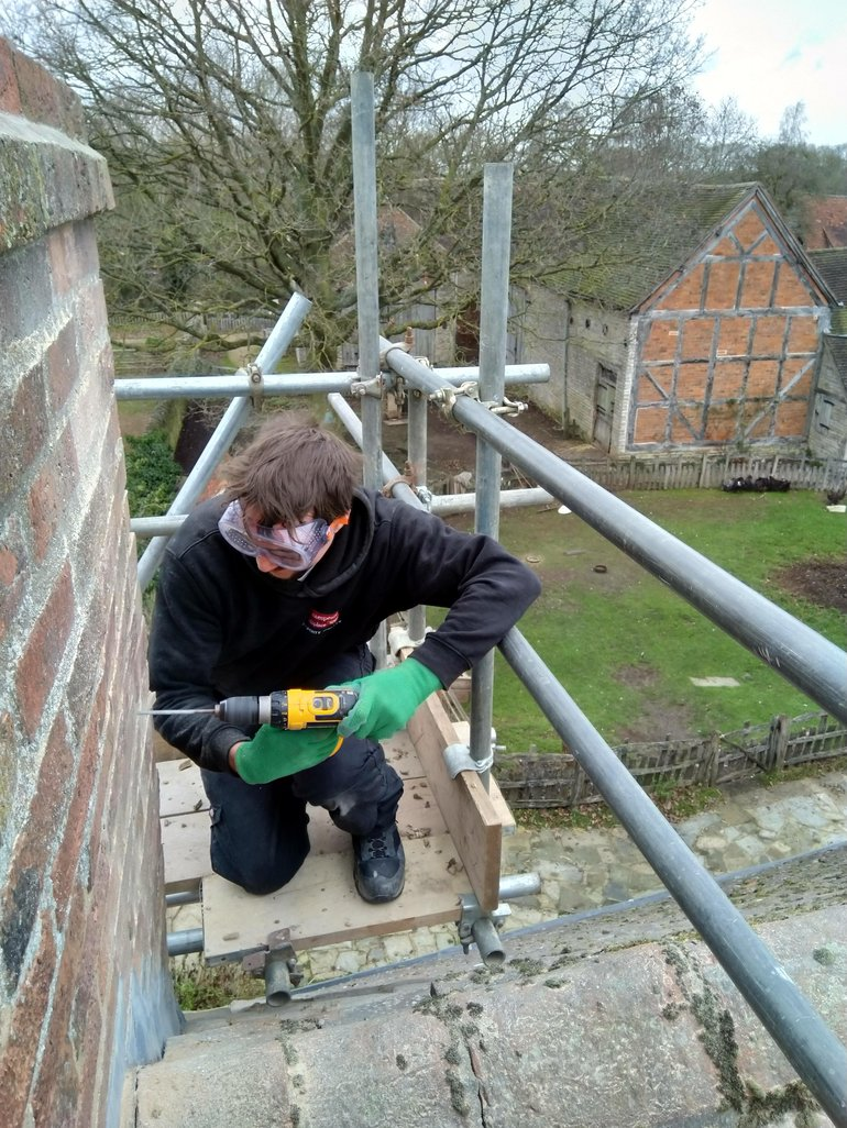 Drilling Palmers Farm Chimney.jpg