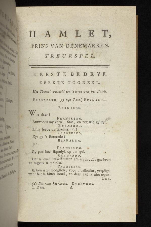 Dutch translation Hamlet