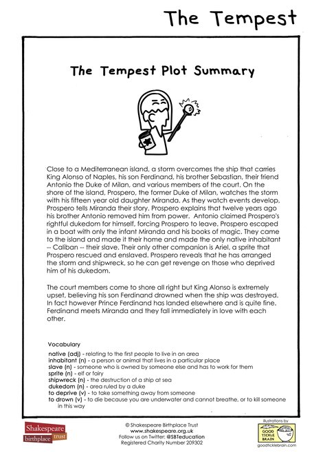 EFL The Tempest Plot Summary