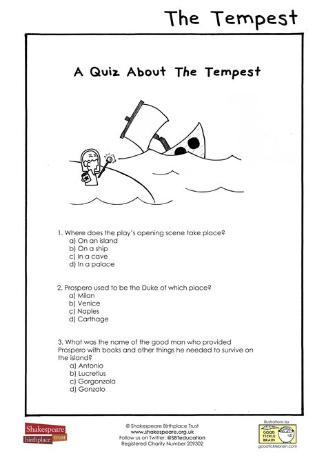 EFL A Quiz About The Tempest