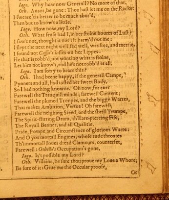 Fingers in the RSC First Folio