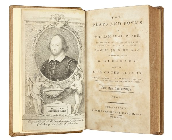 First American edition of Shakespeare