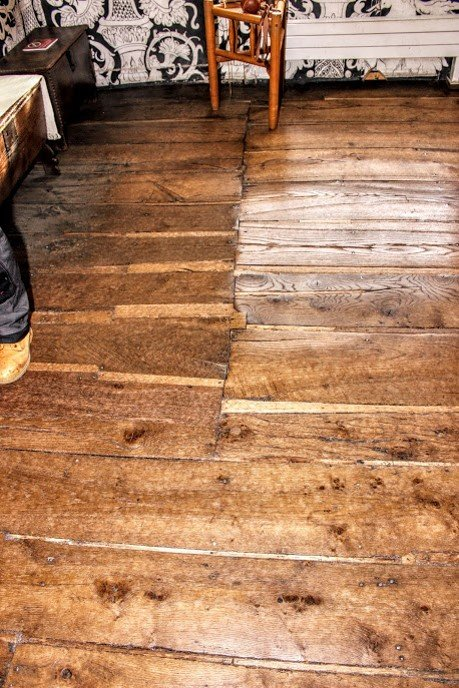 Floorboards at Shakespeare's Birthplace