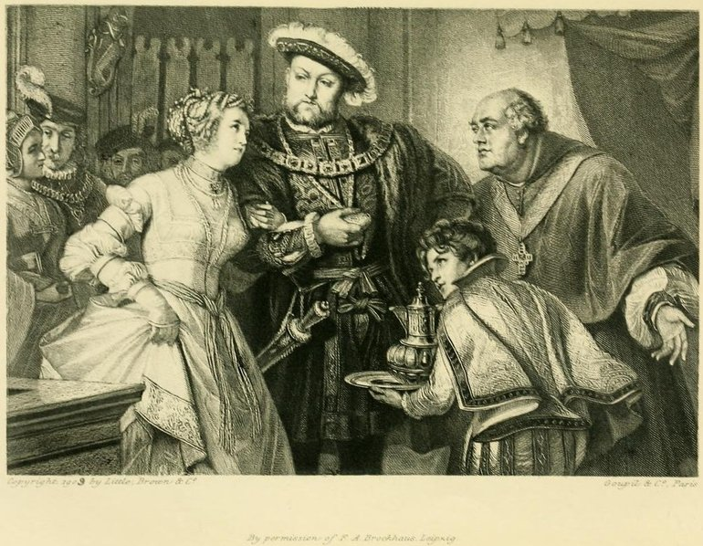 Friedrich Pecht, Henry VIII and Anne Boleyn, 1909
