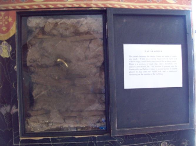 Fragment of wattle and daub from the Shakespeare Birthplace.