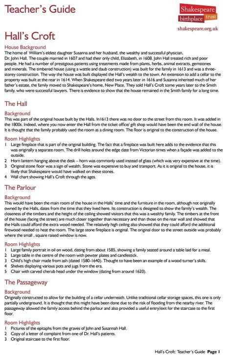 HC Teacher's Guide