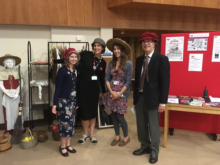 Staff and volunteers demonstrating the dress-up activities at last year's Heritage Open Days
