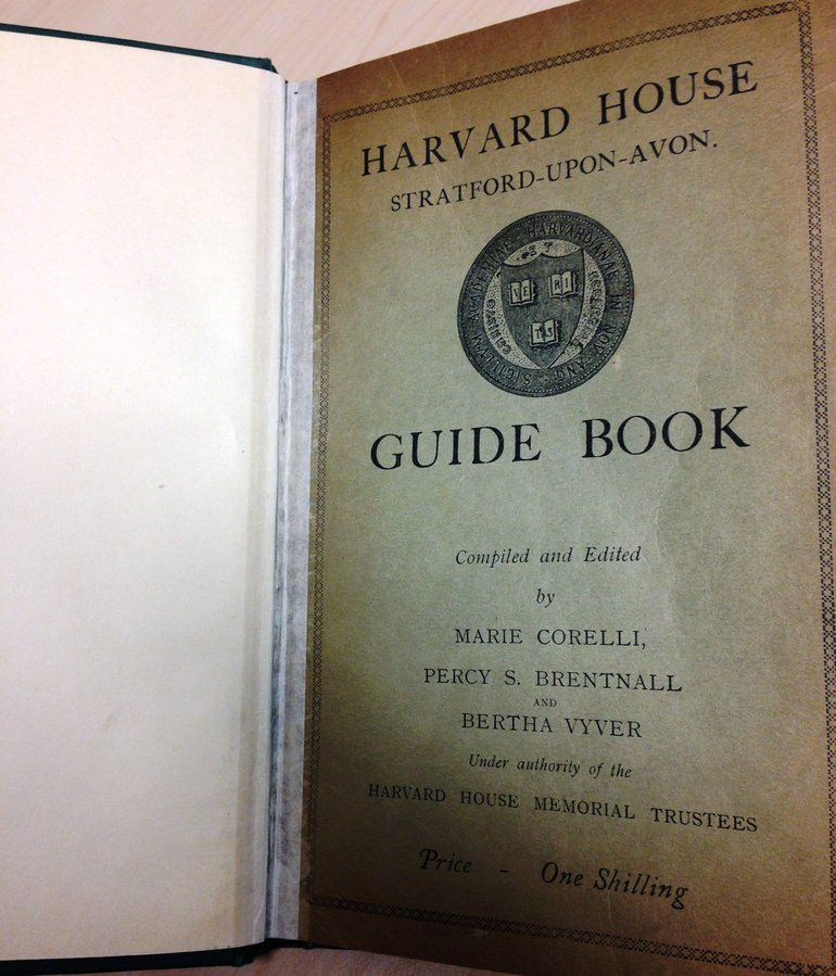'One shilling' – Harvard House guidebook by Marie Corelli [87.32 COR]