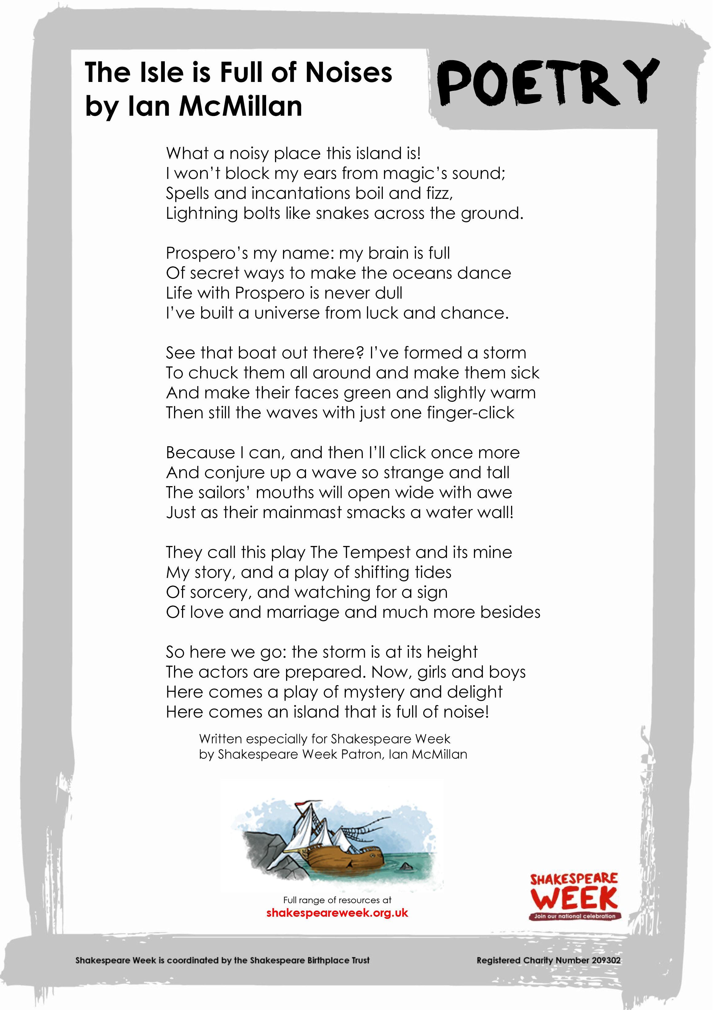 Ian McMillan poems