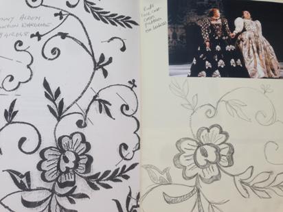 jane nead sketchbook celia's dress