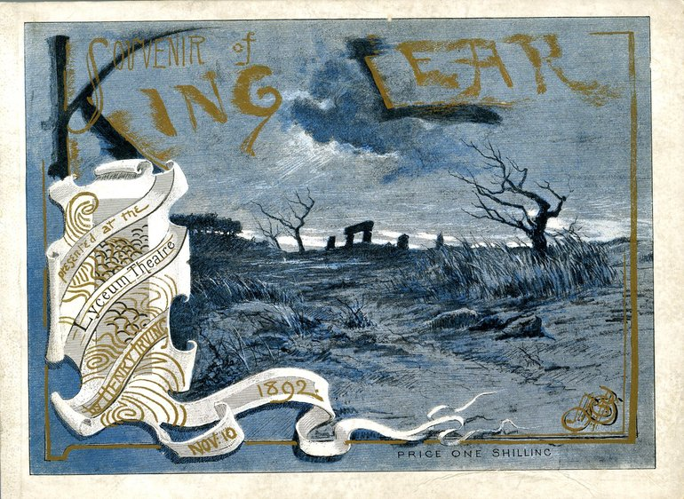 Programme for King Lear, 1892