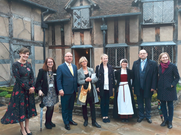 The Polish Ambassador and party at the Birthplace