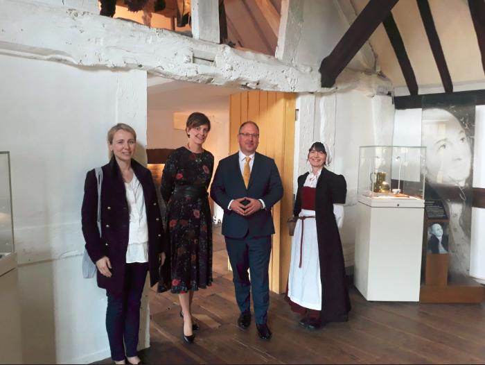 The Polish Ambassador and party at Hall's Croft