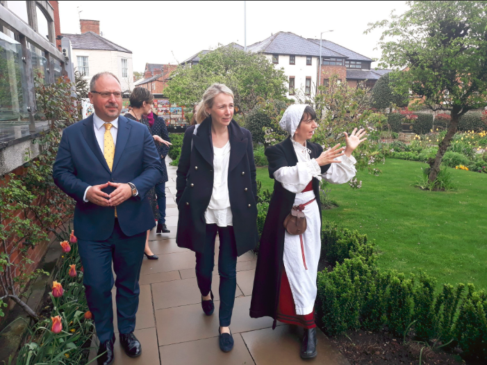 The Polish Ambassador and party at Shakespeare's Birthplace