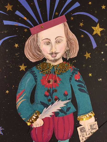 Shakespeare Portrait collage Marcia Williams