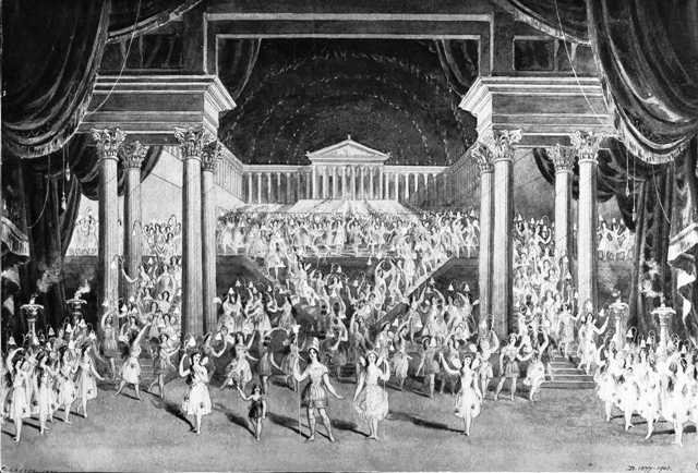The fairy dance from the final scene of A Midsummer Night's Dream performed on a huge scale in London, 1856