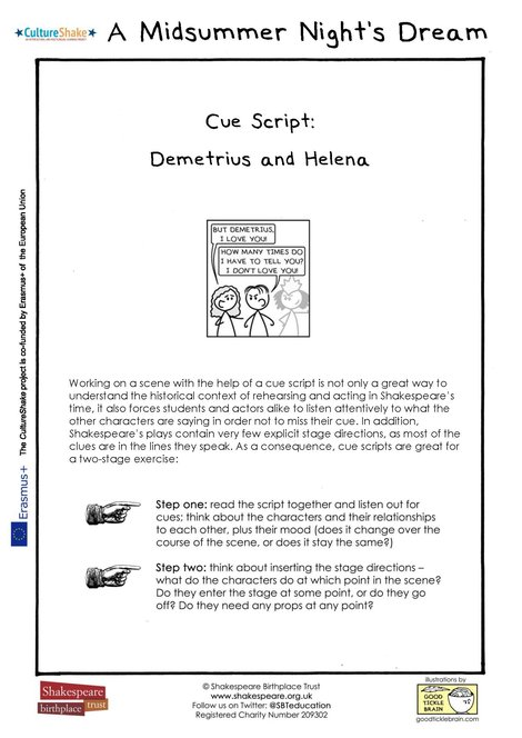 MSND Cue Script Helena and Demetrius thumbnail